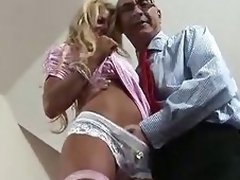 Blonde British MILF tempted for some fucking