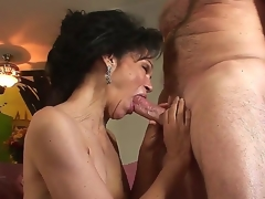 Horny granny with curly haired vagina Sage Hughes screwed by her old paramour Jay Crew