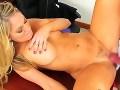 Alec Knight makes his rock solid cock vanish in hot bodied Amber Ashlees wet spot
