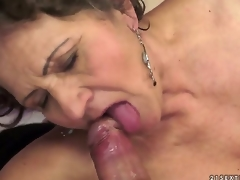 Kata is the most insatiable granny u can imagine. U can check out this hairy granny in act here as she swallows and gets fucked by that young dick that makes her cum.