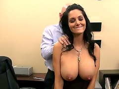 Ava Addams craves to work in Johnnys company, but for that that babe needs to pass his tiny test. Johnny begins with a sensitive massage and then starts licking her nipples. Enjoy