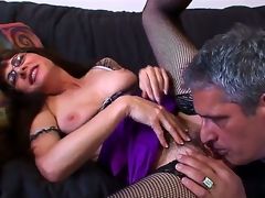 Well, Herschal Savage has promised that that guy will do anything wed ask, so now that guy need to taste the bushy crotch of the kinky MILF  Alexandra Silk M. This babe is so impressed with his tong work.