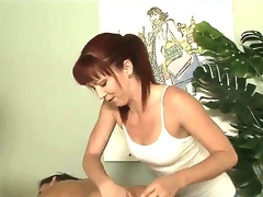 Tough masseuse Trinity Post cant stop rubbing Stephanie Swifts perfectly smooth and round buns here in this vid. The chick rocks ass also good even for a str8 girl to resist!