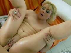 Fuck hungry mature blonde Barbie with petite tits and hairless pussy gets banged hardcore style by her young fuck buddy. Boy drills her soaked experienced pussy in a diversity of positions