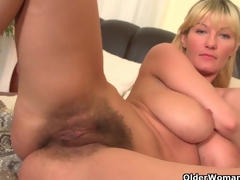 Soccer moms with big love bubbles and shaggy wet crack masturbate