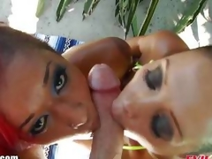 Francesca Le and Skin Diamond dom over this stiff shaft