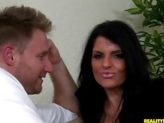 MILF babe Jade Steele is ball cream showered