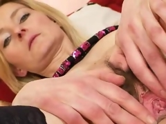 Elegant hairy puss madame Antonie first-ever time vid