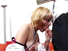 Elegant lad licks pussy golden-haired