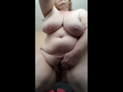 Horny Housewife moist and cumming for you after shower
