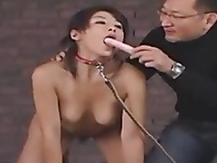 A kinky guy played S&m games with one petite Oriental whore in this clip. After that, he shagged her hard and came on her face.