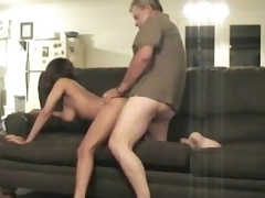 69 leads to cock riding on sofa